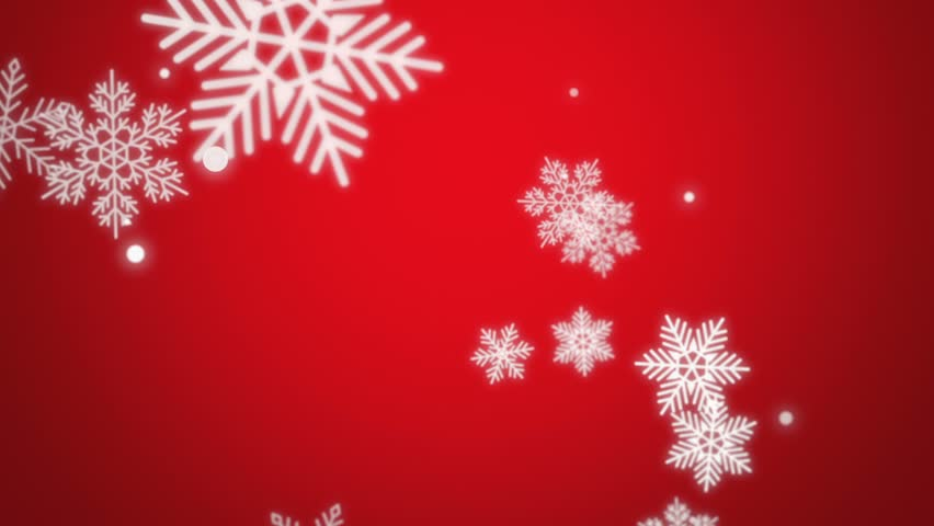 Beautiful animated Christmas snowflake on a red holiday background for use as is or with any seasonal text or graphic elements. Video is looped for buyer convenience. | Shutterstock HD Video #8024593