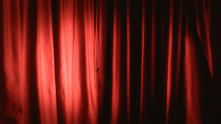 A static red theater curtain. Background or establishing shot. Right view.  | Shutterstock HD Video #8026387