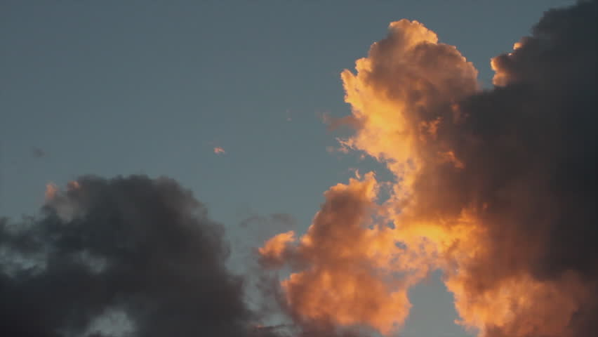 Sunset Clouds - Sky with cumulus clouds in motion at sunset  | Shutterstock HD Video #8028136