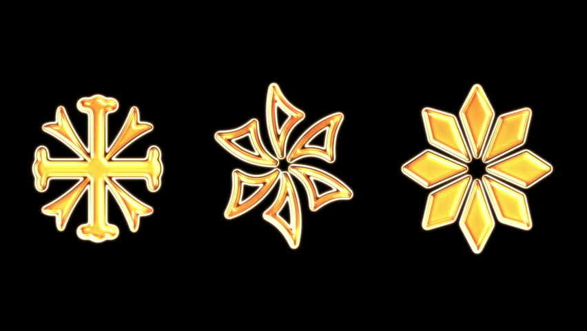 Snowflake. gold sign on fire, sign is burned, burning from the bottom up. Combustion.  Alpha Channel Is Included at the end. | Shutterstock HD Video #8028268