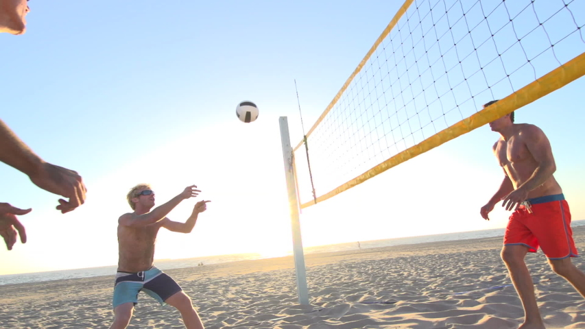 Playing beach volleyball. - Model Released - 1920x1080 - HD | Shutterstock HD Video #8028724
