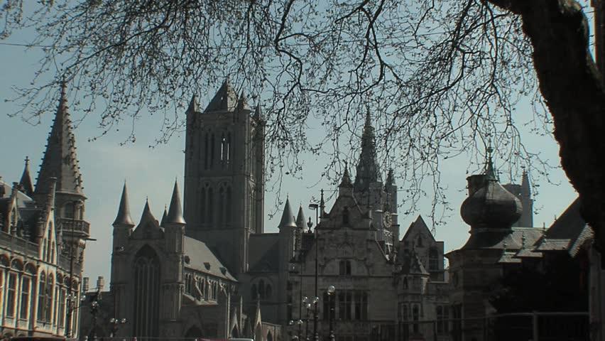 Ghent St-Nicolas church   Shutterstock HD Video #804109
