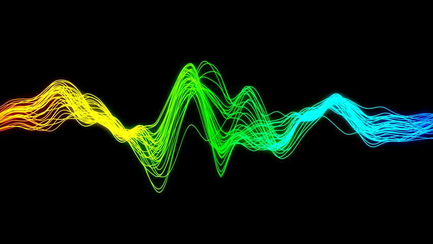 Seamless animation of wave form with vibrant colors
