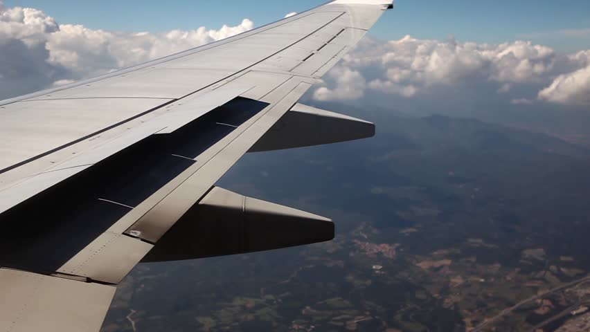 Beautiful Airplane Wing Shot From Stock Footage Video 100