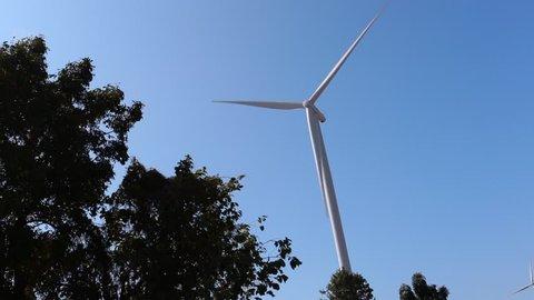 Turbines generating electricity