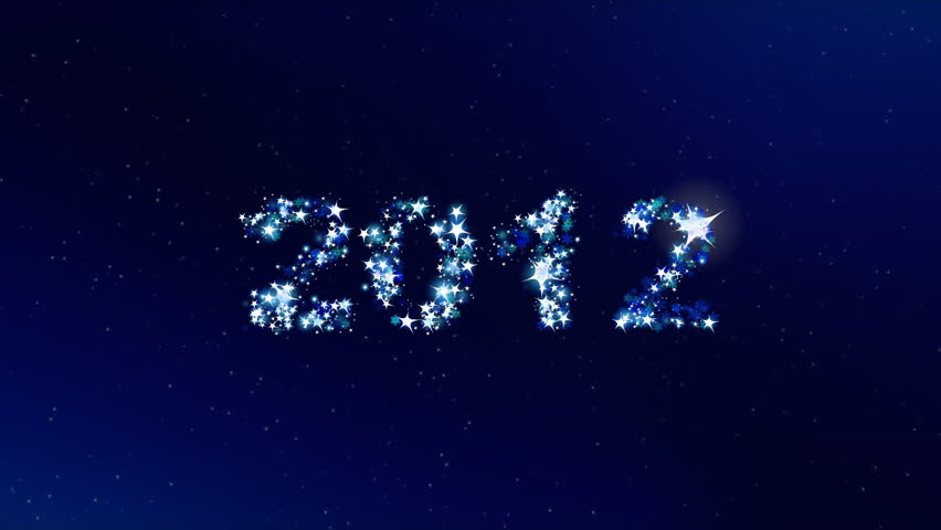 Counter from 2010 to 2015 shining text on dark blue background. Best for New Year's Eve, anniversary, party, and other event.