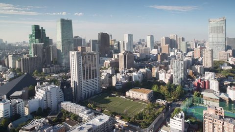 timelapse of the amazing tokyo skyline shot from a high up observation point