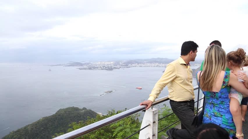 RIO DE JANEIRO, BRAZIL - CIRCA NOVEMBER 2014: Tourists on the Sugar Loaf | Shutterstock HD Video #8119924