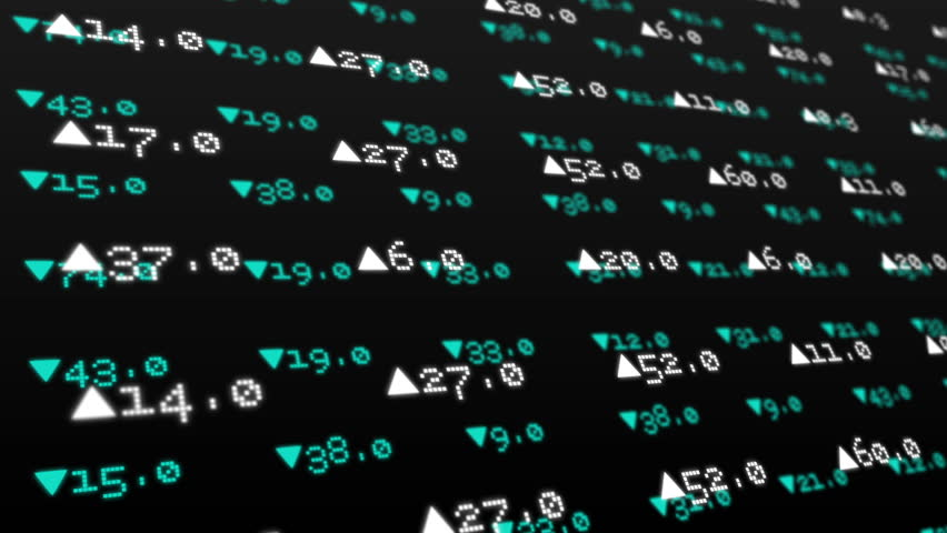 Digital animation of Stocks and shares on green background | Shutterstock HD Video #8143828