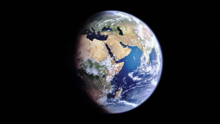 Computer generated realistic 3d globe/earth rotation animation