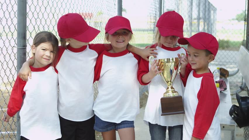 Little league team wins trophy