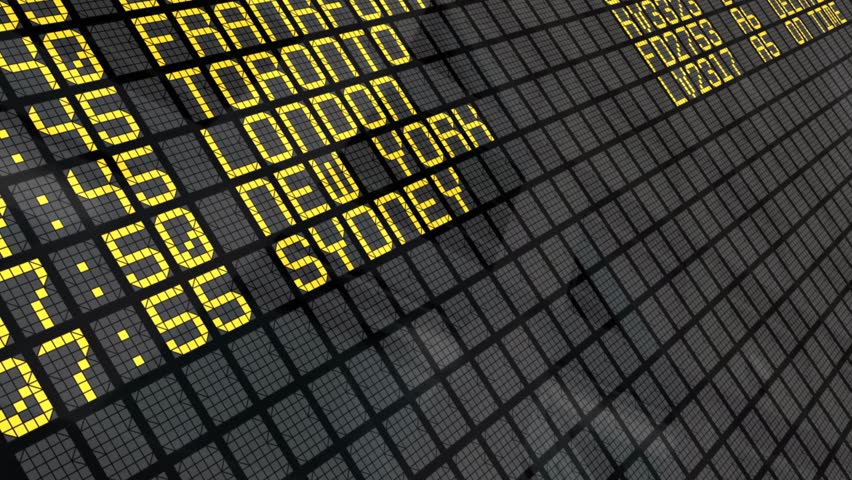 International Airport Departures Board | Shutterstock HD Video #820237