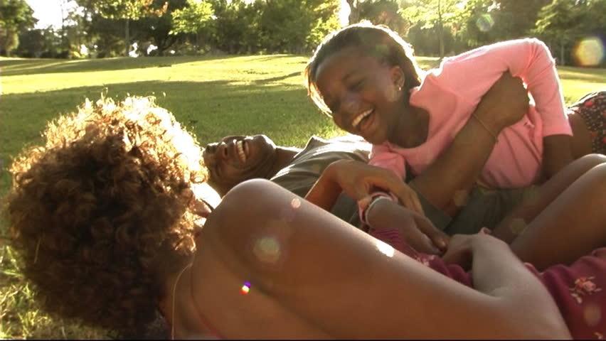 Family In Park Hugging   Shutterstock HD Video #8206132
