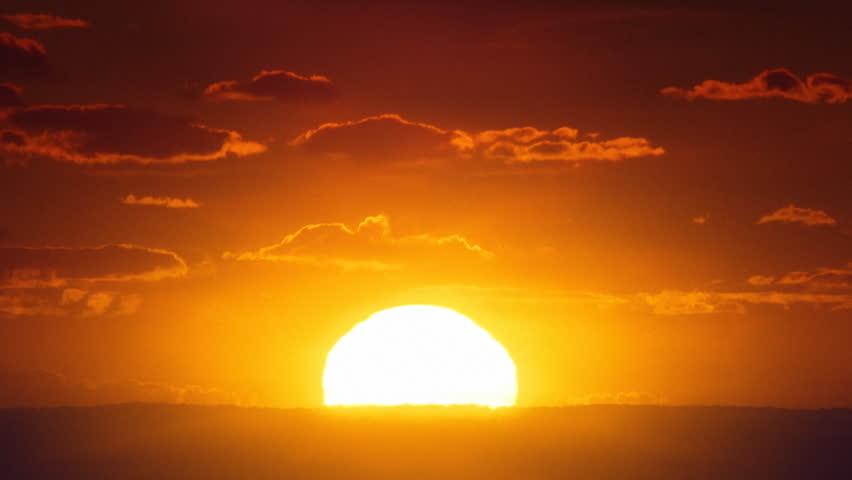 African sunrise timelapse.