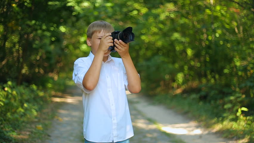 Happy Caucasian Boy Takes Pictures Stock Footage Video 100 Royalty Free 8260201 Shutterstock