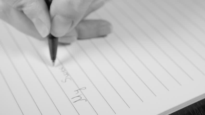 Romantic letter writing slow motion black and white 1080p hd footage romantic letter writing slow motion black and white 1080p hd footage my sweet love text writing with pen slow mo bw 1920x1080 fullhd video stock footage thecheapjerseys Images