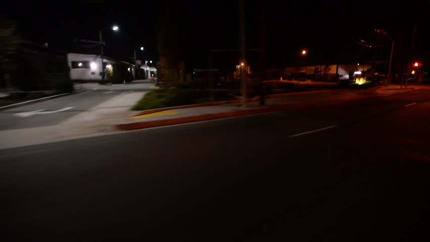 Driving Plates Night S02C04 CAM6 Three Quarter View LA Fairfax and La Cienega Blvd #8316919