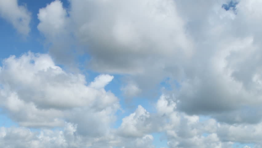 Fast moving white clouds in blue sky time lapse. | Shutterstock HD Video #837376