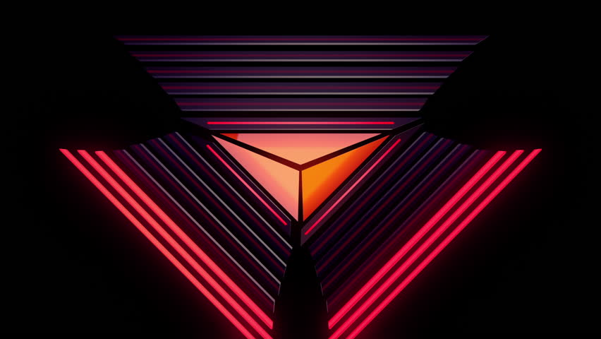 Abstract Audio Visualizer Glowing Triangle Stock Footage Video 100 Royalty Free 8379706 Shutterstock