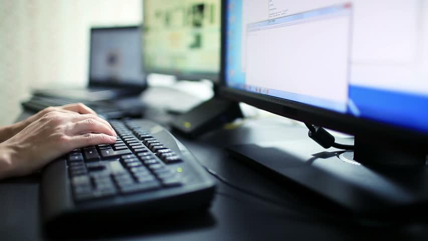 Woman Work at Computer | Shutterstock HD Video #8400775