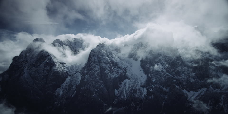 Mountains and Clouds 4K shot on RED EPIC for high quality 5K, UHD, Ultra HD resolution