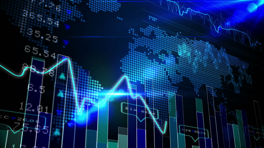 Digital animation of Blue stocks and shares technology screen | Shutterstock HD Video #8414821