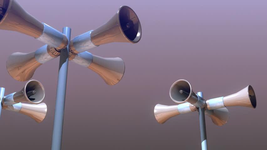 megaphone  or siren
