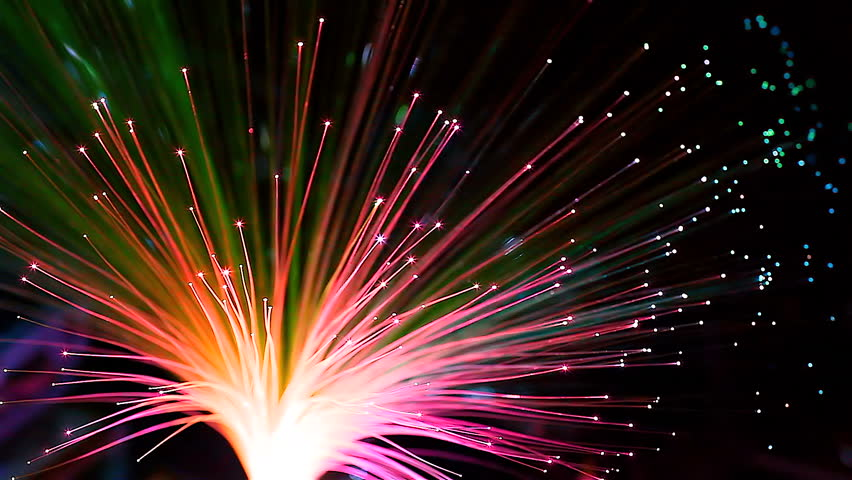 HD: Bunch of fibre optic dynamic flying from deep, 1920x1080 #8457412