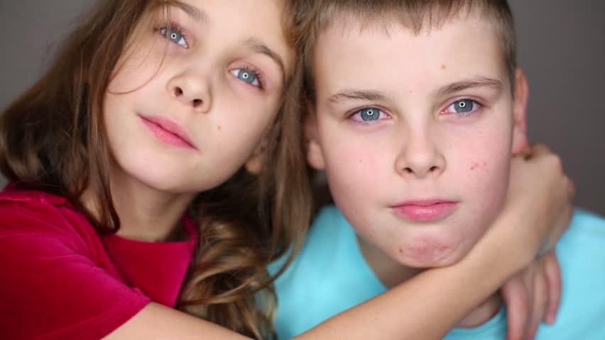 Cute Little Girl and Boy: Video de stock (totalmente libre de regalías) 8470456 | Shutterstock