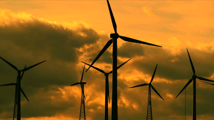 Recycle symbol and wind turbines    Shutterstock HD Video #847978