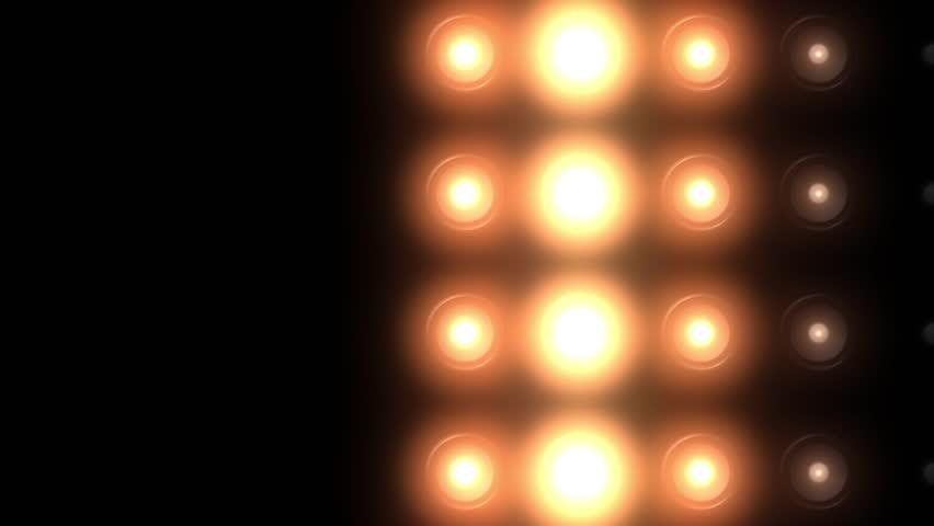 golden floodlights flashing in different variations #8488282