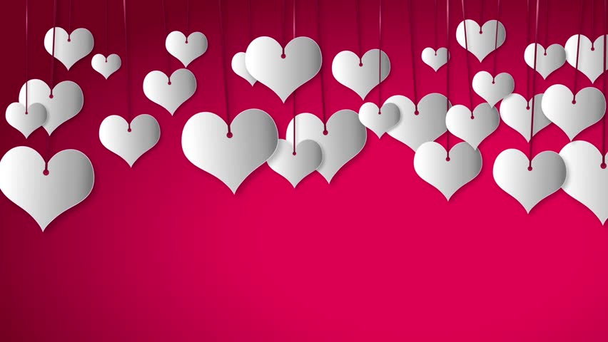 Valentine's day. White heart babbles on pink color design for love and valentine's day.