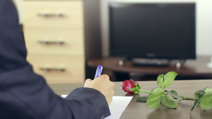 Adult Man Writing a Love Stock Footage Video (100% Royalty-free) 8501107 |  Shutterstock