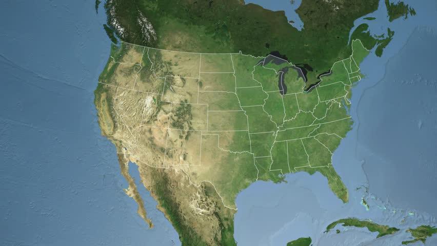 Satellite Map Of Georgia Usa.Usa Georgia State Atlanta Stock Footage Video 100 Royalty