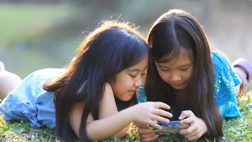 Pre-teen Girl Playing Outside On Stock Footage Video (100%