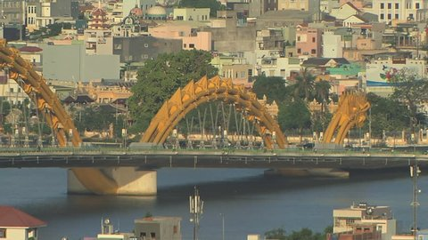 Dragon Bridge in Da Nang Vietnam