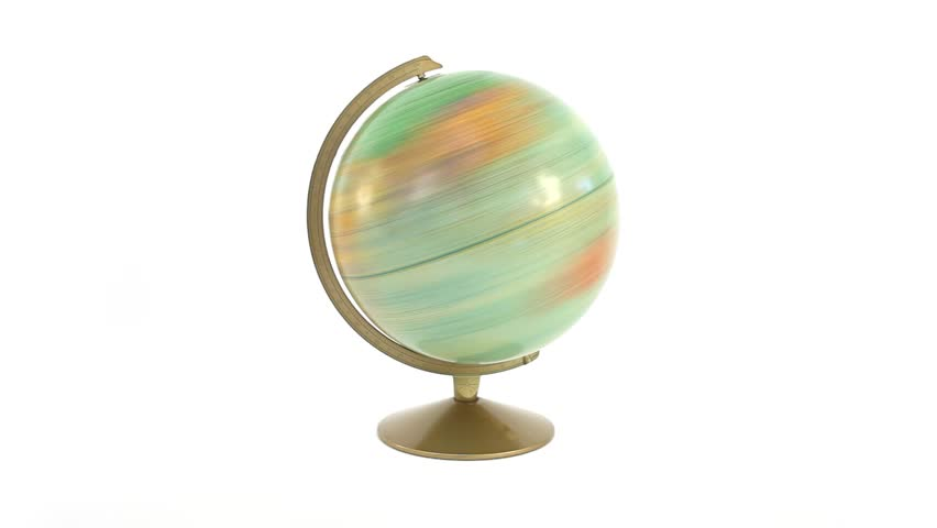 Fast spinning vintage globe. | Shutterstock HD Video #852439