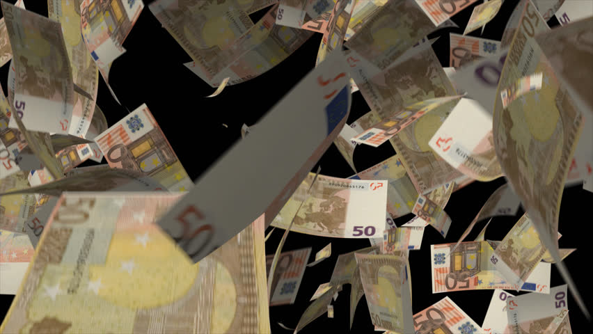 Falling Euro banknotes money Video Effect simulates Falling 50 Euro banknotes money with alpha channel in 4k resolution  | Shutterstock HD Video #8547214