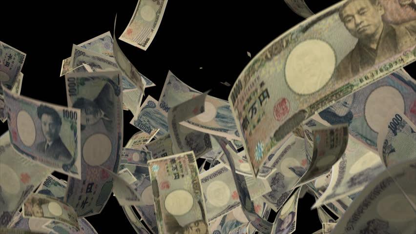 Falling Japan money banknotes Video Effect simulates Falling Mixed Japan money banknotes with alpha channel in 4k resolution  | Shutterstock HD Video #8547262