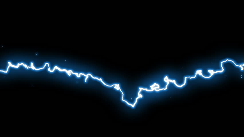 Beautiful animation of Lightnings. Set of 6 Electric Arcs and Lightnings. HD 1080p. Loop-able.