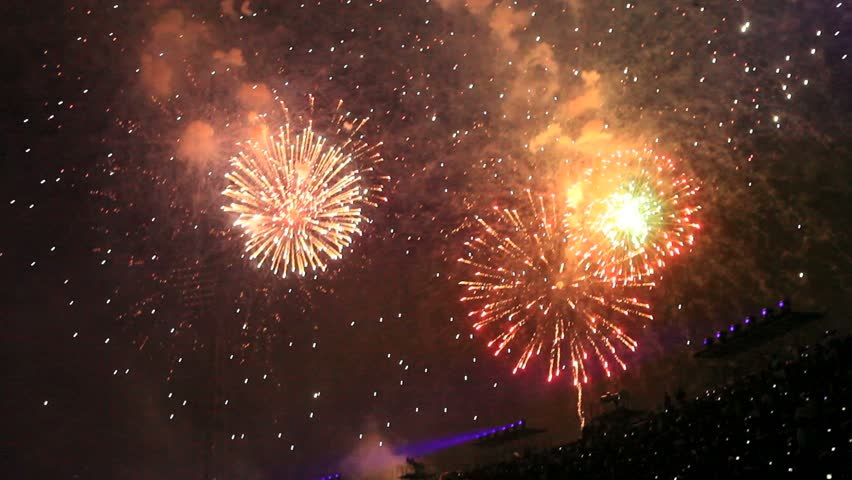 Colorful display of fireworks   Shutterstock HD Video #856219
