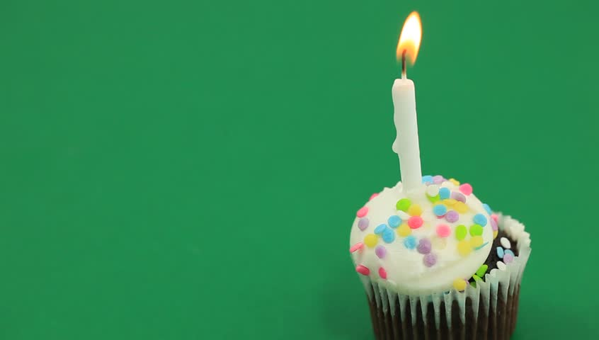 Strange Chocolate Birthday Cupcake On A Stock Footage Video 100 Royalty Birthday Cards Printable Benkemecafe Filternl