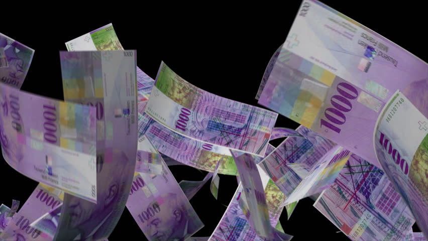 Falling Switzerland Money 