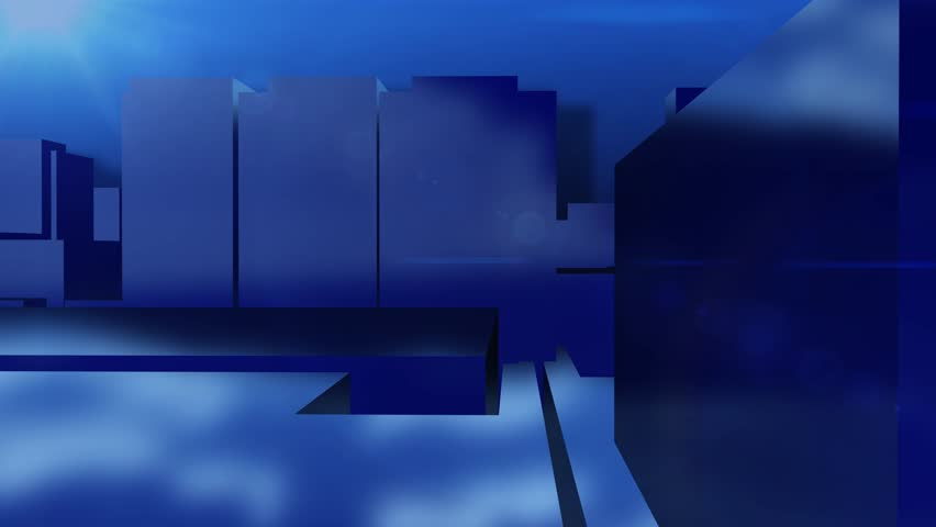 News style virtual studio abstract motion  blue background | Shutterstock HD Video #8586754