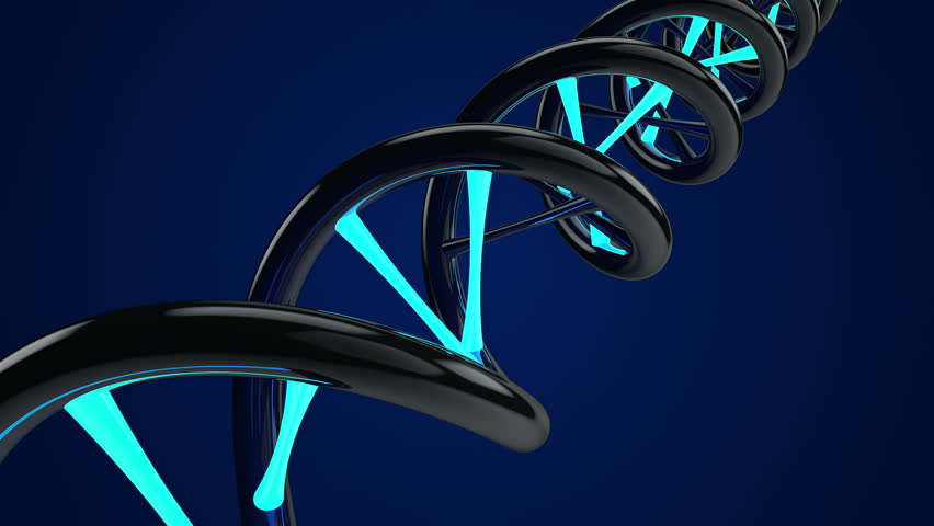 Rotating DNA with glow element. Medic background. Science abstract. Seamless loop. Blue color. Other color in my profile.   Shutterstock HD Video #8600629