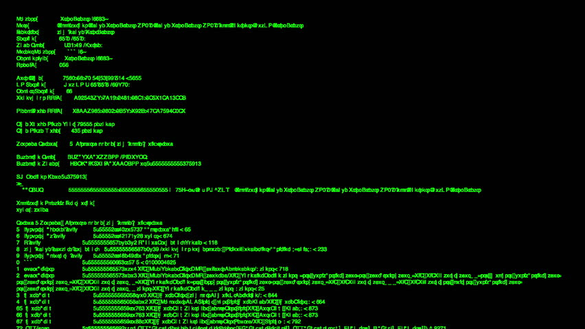 Hacker code running down a computer screen terminal | Shutterstock HD Video #8617789