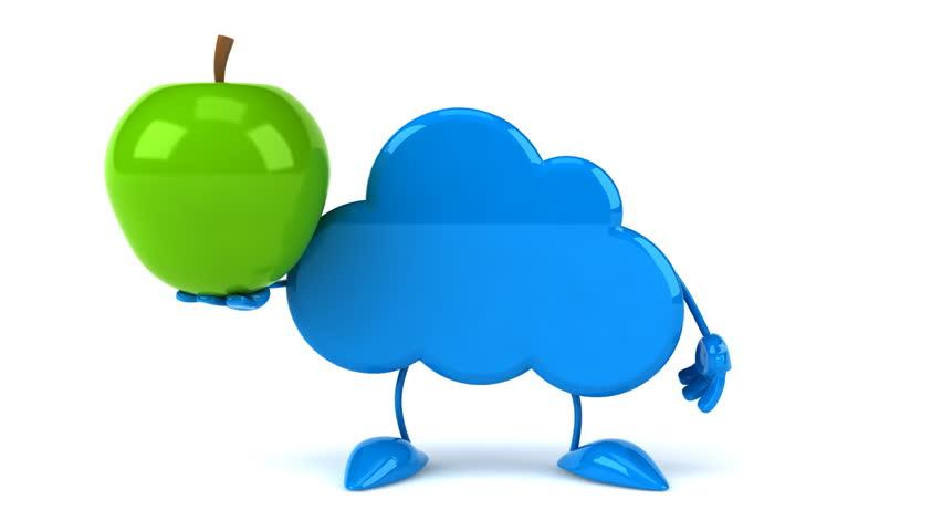 Cloud and apple  | Shutterstock HD Video #8619763