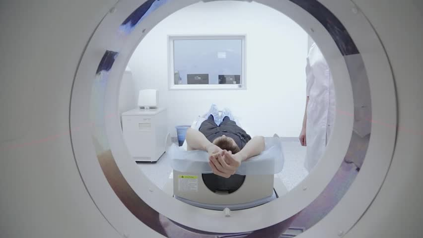 Tomograph, Patient on magnetic resonance imaging, medical examination