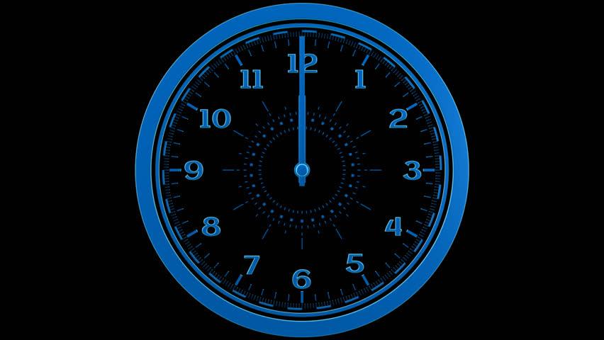 Clock Loop - Seamless clock loop with alpha   Shutterstock HD Video #8774572