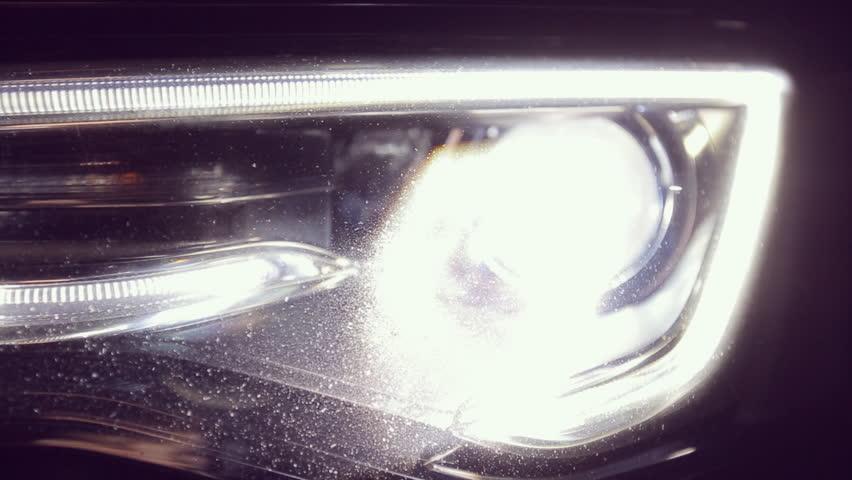Close up of Audi A5 headlamps HD 1080p